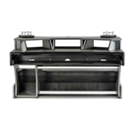 Zaor Miza X2 Grey Wengè Workstation 12 Unità Rack