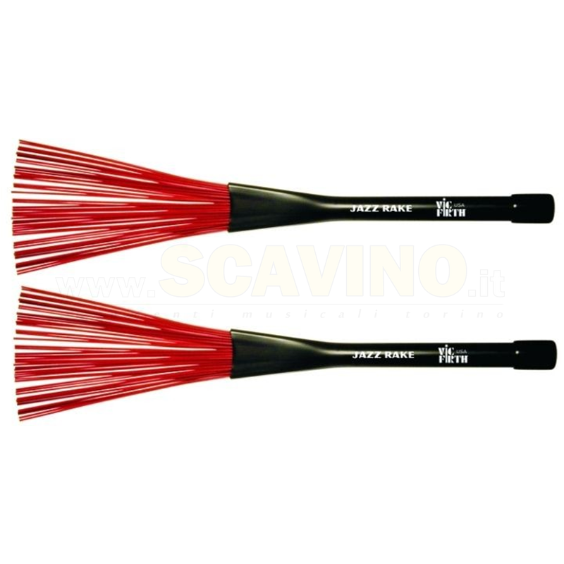 Vic Firth BJR Jazz Rake Brushes Spazzole per Batteria