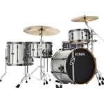 Tama ML40HZBN2-SSV - shell kit Hyper-Drive - finitura Satin Silver Vertical Stripe - LIMITED EDITION