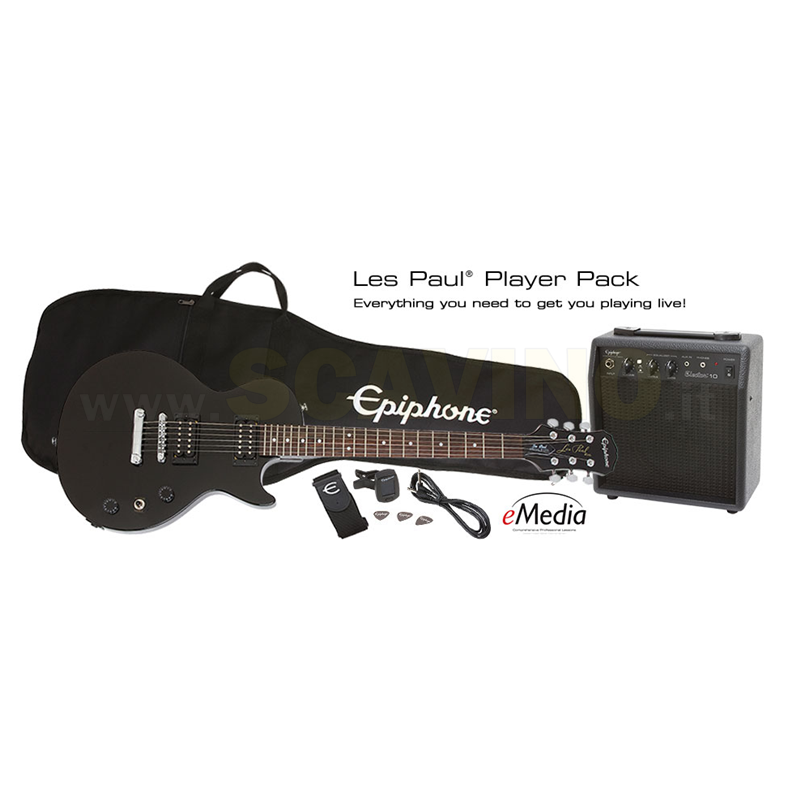 Epiphone Les Paul® Player Pack  Ebony PPEG-EGL1EBCH1