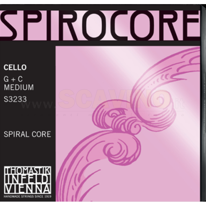 Thomastik S3233 Spirocore Cello Sol- Do Twin Pack Wolfram