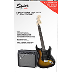 Fender Squier Affinity Strat Pack HSS Brown Sunburst 0301814632