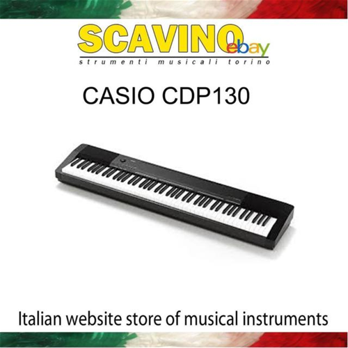 Casio CDP130 BK Pianoforte Digitale 88 Tasti Pesati Nero