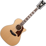 D'Angelico Premier Fulton Natural 12-String Acoustic-Electric Guitar