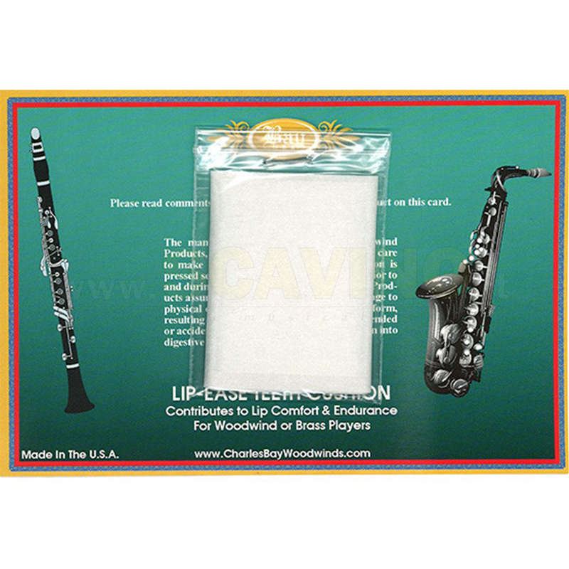 Charles Bay Lip Ease Cartine Proteggi  Denti per Clarinetto e Sax