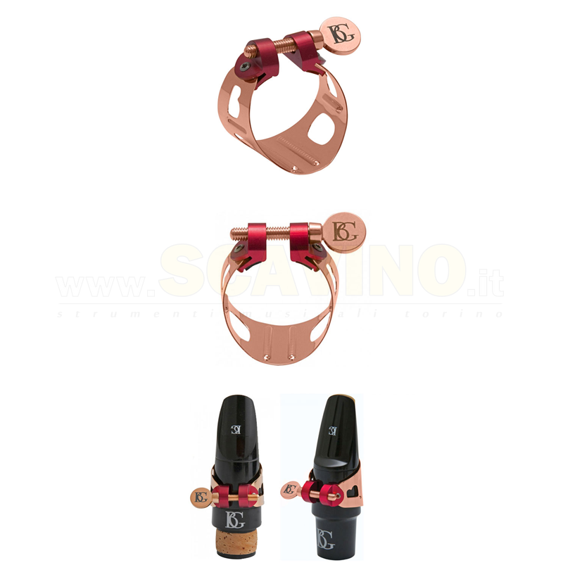 BG LD9 Duo Rose Gold Plated Legatura per Clarinetto e Sax Alto