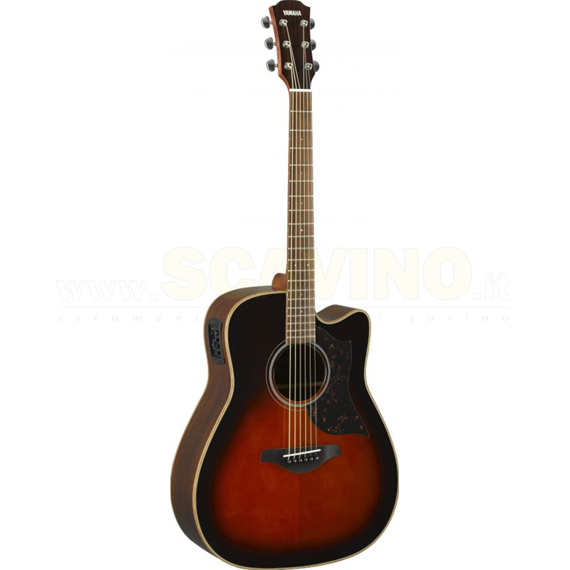 YAMAHA A1RIITBS ELECTRIC ACOUSTIC GUITAR TOBACCO BROWN SUNBUR