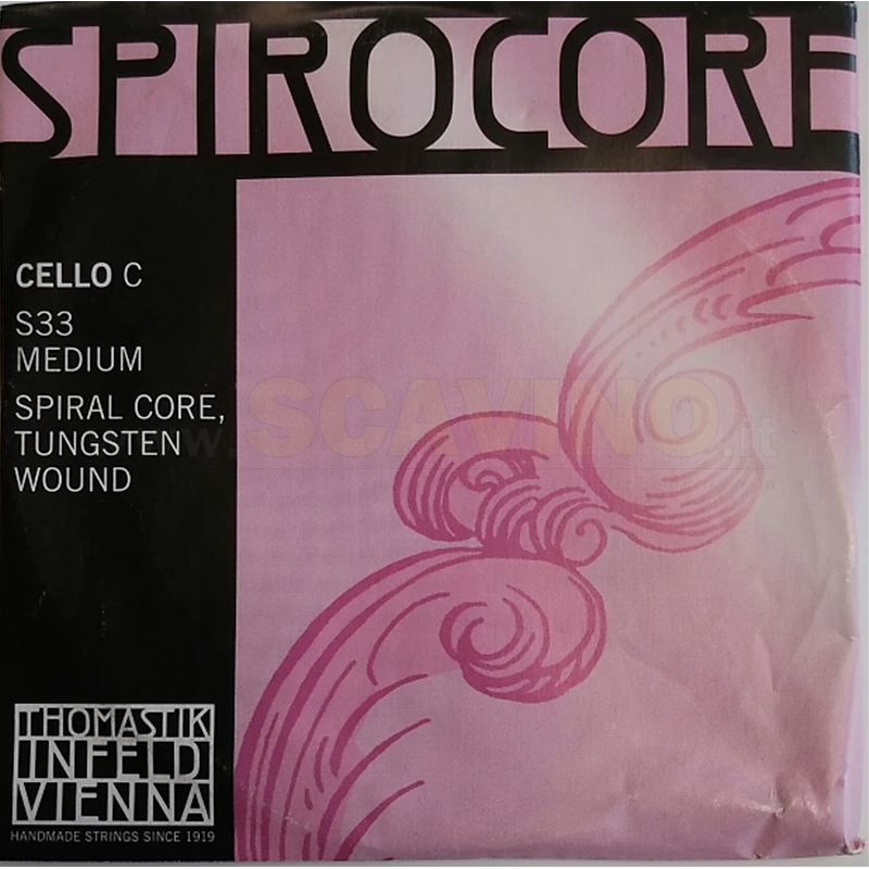 Thomastik S33 Do Cello Spirocore Wolfram Medium