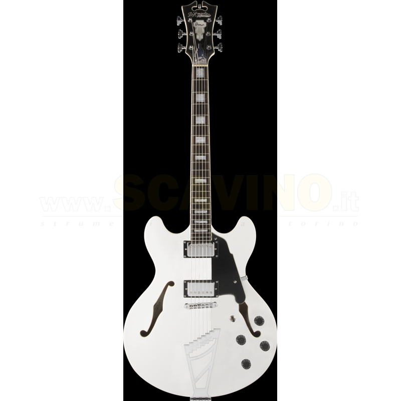 D'angelico Premier Dc White PSDCSPWH