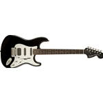 Fender Squier Black and Chrome Standard Stratocaster HSS, Laurel Fingerboard, Black
