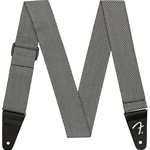 Fender Modern Tweed Strap, White/Black 2""