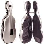 "BAM 1002XL Silver Astuccio per violoncello HIGHTECH ""Adjustable"" 4.4 SILVER"