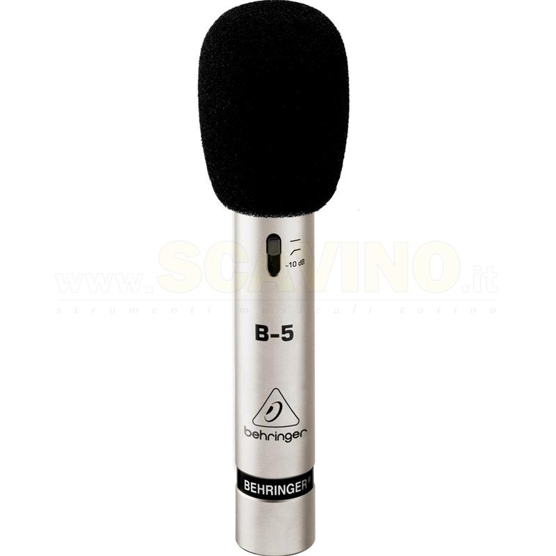 Microfono a condensatore a diaframma dotato di 2 capsule intercambiabili Behringer B-5