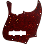 Fender Pickguard, Jazz Bass®, 10-Hole Mount (with Truss Rod Notch), Tortoise Shell, 4-Ply