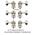 Martin & Co. TM28BB Meccaniche Butterbean Chrome Set/6