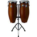 Natal Natural Wood Congas Chrome 2 stand Matt Honey