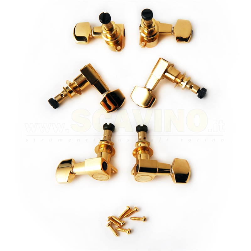 PRS ACC-4338 Phase II Locking Tuners GOLD (SET 6)