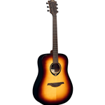 Lag T70D Dreadnought Brown Burst