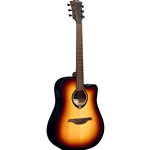 Lag T70DCE Dreadnought cutaway EQ Brown Burst