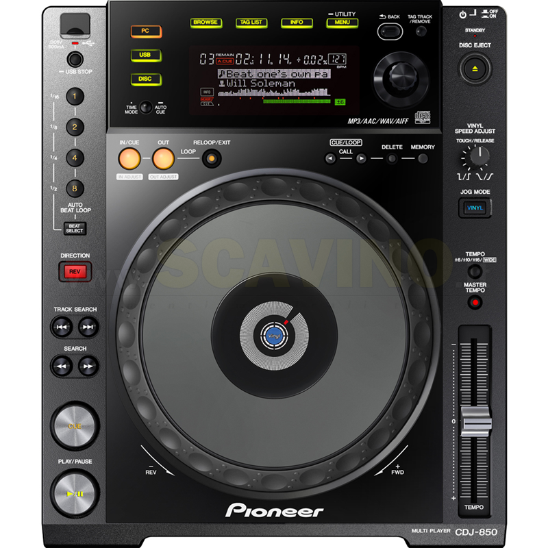 Pioneer CDJ850 K Digital Deck with Full Scratch Jog & rekordbox support