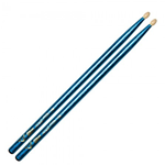 Vater 5B Blue Wrap Power Sparkle Nylon Tip Bacchette per Batteria