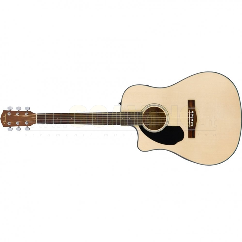 Fender CD60SCE Left-Hand, Natural, Walnut