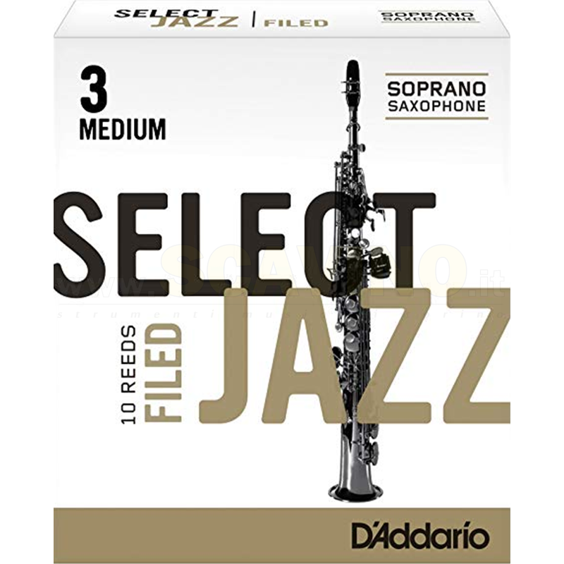 D'Addario Ance Select Jazz Filed per Sax Alto 3S