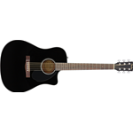 Fender CD60SCE Dreadnought, Walnut Fingerboard, Black