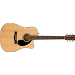 Fender CD60SCE Dreadnought, Walnut Fingerboard, Natural
