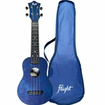 Flight TUS35 Ukulele Soprano Blu Travel