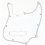 Fender Pickguard, Jazz Bass®, 10-Hole Mount (with Truss Rod Notch), W/B/W, 3-Ply
