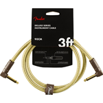 Fender cavo Deluxe Series Instrument Cable, Angle/Angle 3'  Tweed 90cm