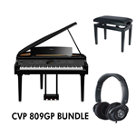 Yamaha CVP809GP Bundle Pianoforte digitale con accompagnamenti finitura nero lucida codino digitale +panca + cuffia