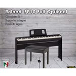 Roland FP10 BK Full Optional completo di stand e panca
