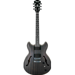 Ibanez AS53TKF Chitarra semiacustica Transparent Black Flat