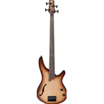 Ibanez SRH500FNNF Basso elettrico 4 corde finitura Natural Browned Burst Flat