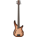 Ibanez SRH505FNNF Basso elettrico 5 corde finitura Natural Browned Burst Flat