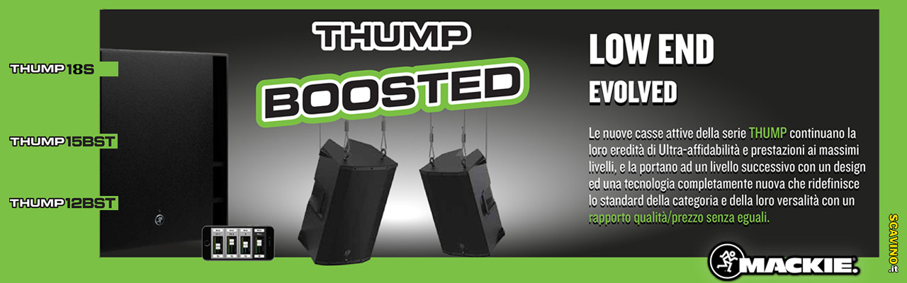 Nuova Serie casse amplificate Mackie Thump 12BST, Thump 15BST e 18S