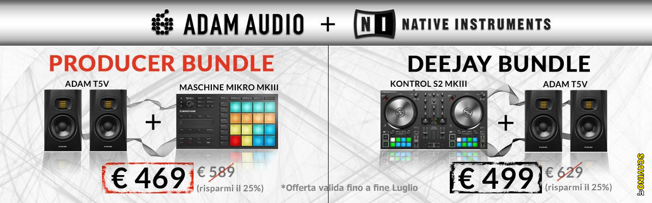 Offerte Bundle Summer of Sound 2019 Native Instruments e Adam Audio