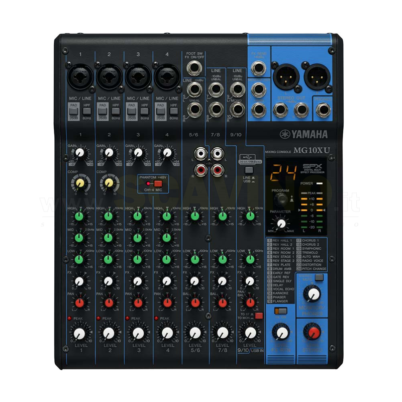 Yamaha MG10XU Mixer 10 ingressi USB