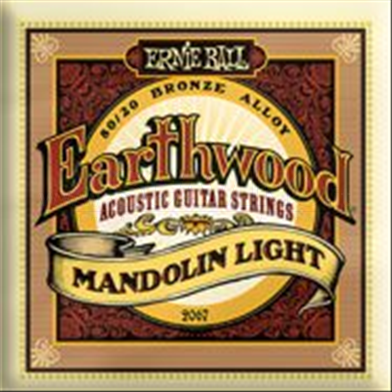 Ernie Ball 2067 Earthwood Mandolin Light .009/.009-.013/.013-.022w/.022w-.034/.034