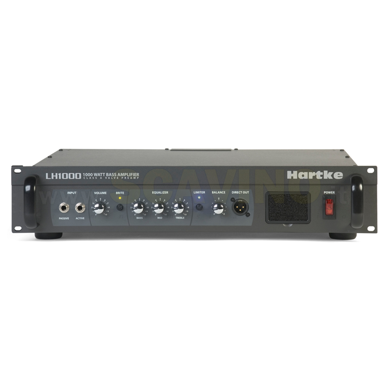 Hartke LH1000 - 1000W @ 4 Ohm/500W @ 8 (bridged mono) - 2 x 225W @ 8/2 x 320W @ 4/2 x 545W @ 2 (dual parallel)