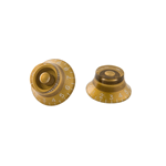 Gibson PRHK-020 top hat knobs Gold 4/pkg