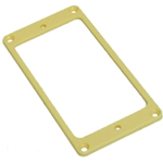 Parts planet  MT10 F CR Mascherina Flat in plastica per pick up Humbucker Crema - Manico
