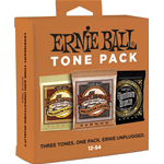 Ernie Ball 3313 - Tone Pack Acoustic Guitar String - 3 Mute assortite