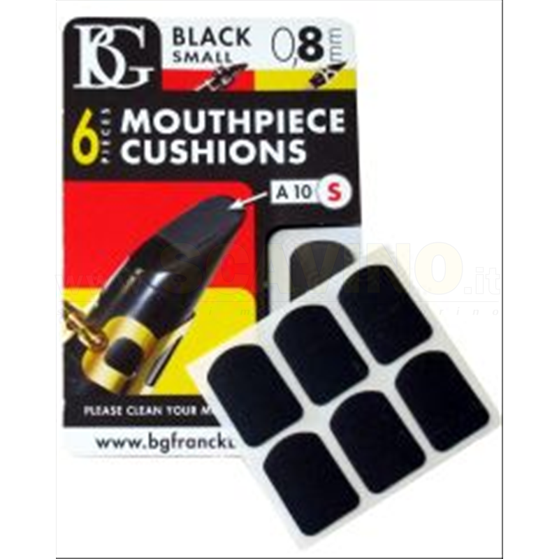 BG A10S Salvabocchino Small 0.8 mm Nero 6 PZ